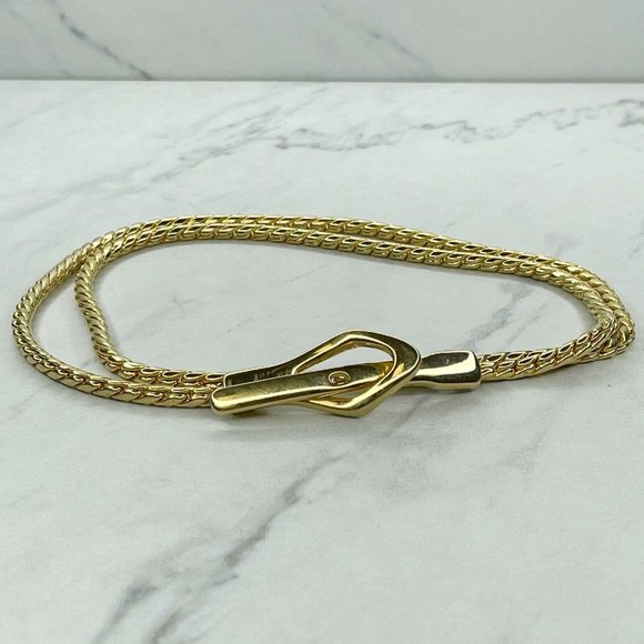Nbel Gold Tone Skinny Chain Link Belt Small S 32